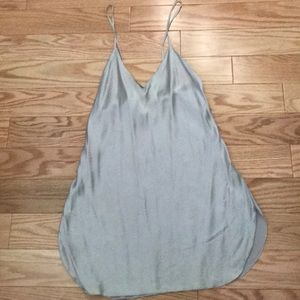 Tops - Silk light silver grey camisole